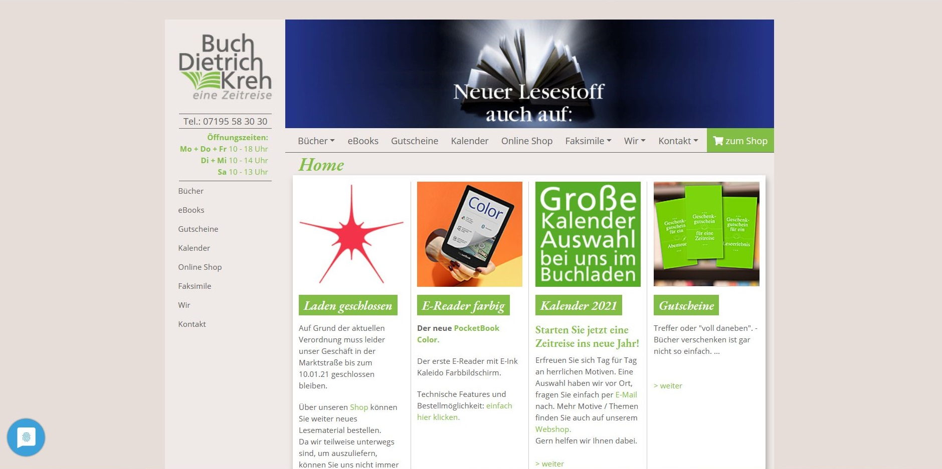 Buch Kreh Website in TYPO3 CMS - mit Anbindung an Händlershop